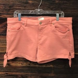 Loft Shorts Blush Pink Denim with Leg Ties SZ 10